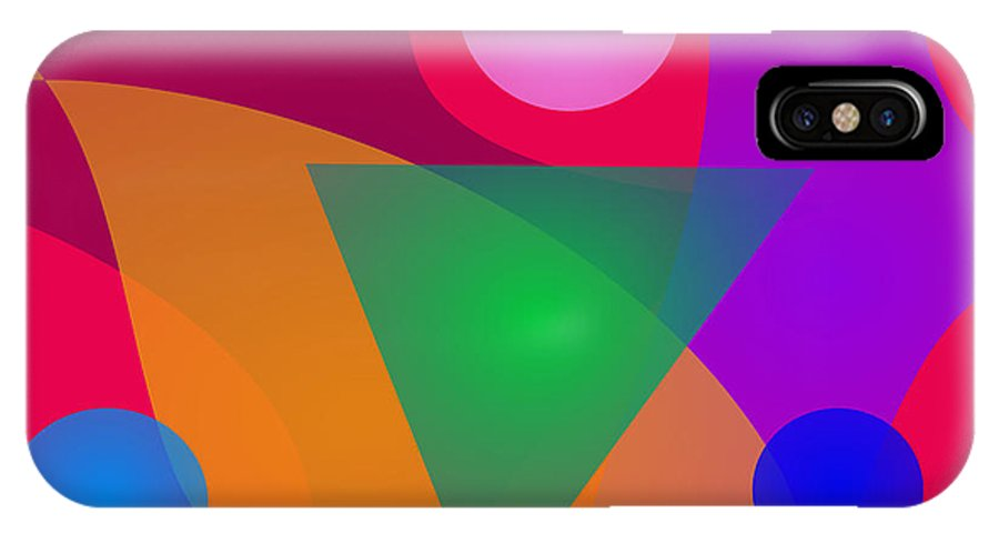 Gradation IPhone X Case featuring the digital art Relationship by Masaaki Kimura