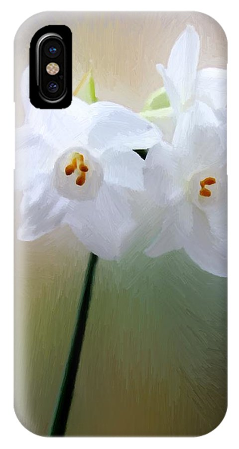 Floral IPhone X Case featuring the painting Remembering You by RC DeWinter