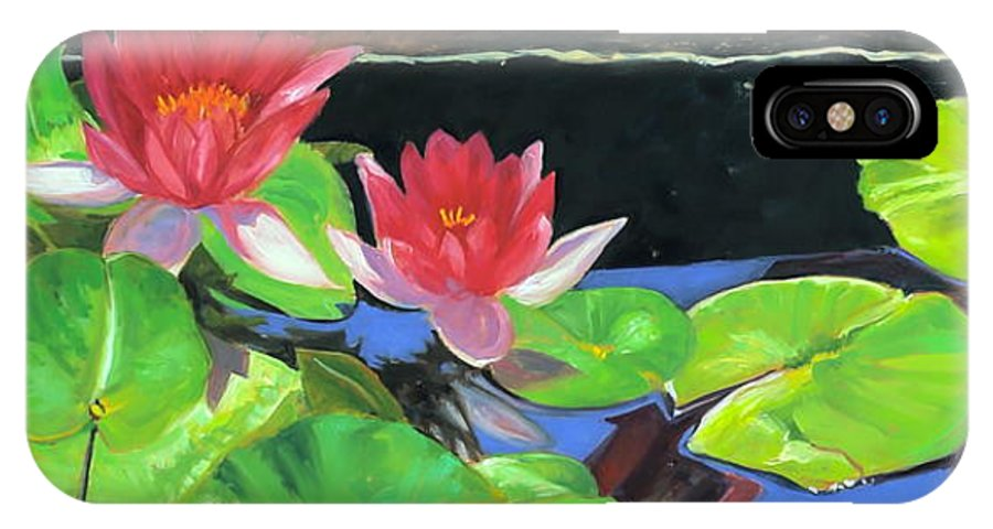 Water Lily IPhone X Case featuring the painting Remembrance by Lynne Schulte