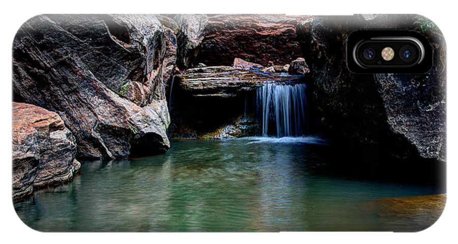 Water IPhone X Case featuring the photograph Remote Falls by Chad Dutson