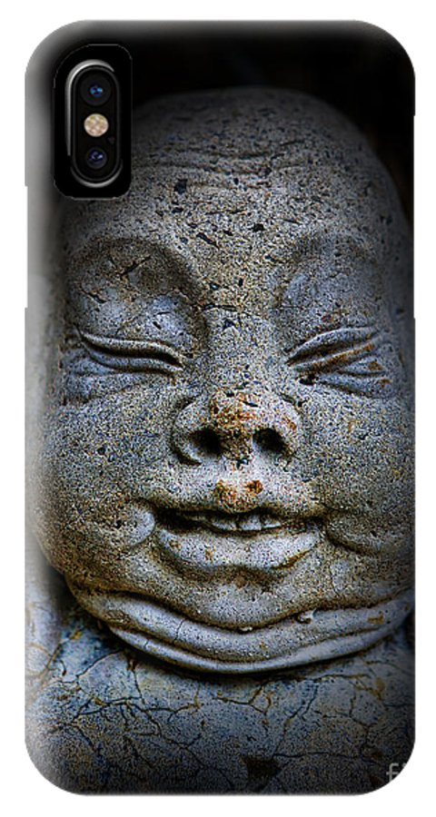 Japanese IPhone X Case featuring the photograph Qieci The Fat Budai - Fat Buddha by Lee Dos Santos