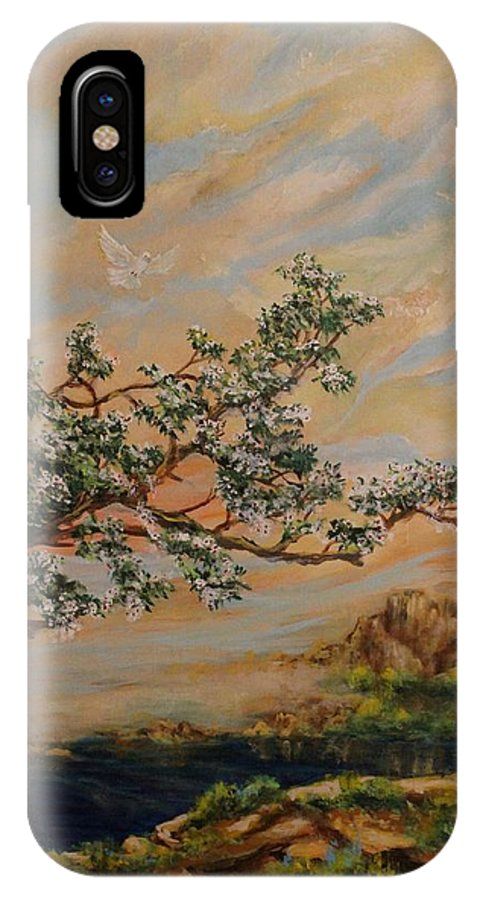 Dogwood Tree IPhone X Case featuring the painting Renewal by Robert Wright