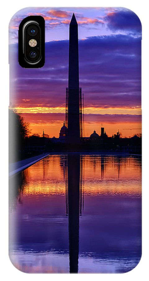 Metro IPhone X Case featuring the photograph Repairing The Monument IIi by Metro DC Photography