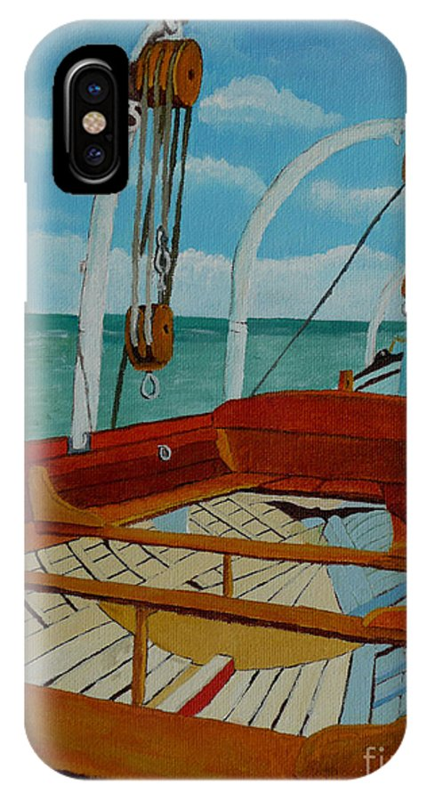Lifeboats IPhone X Case featuring the painting Rescue Me by Anthony Dunphy