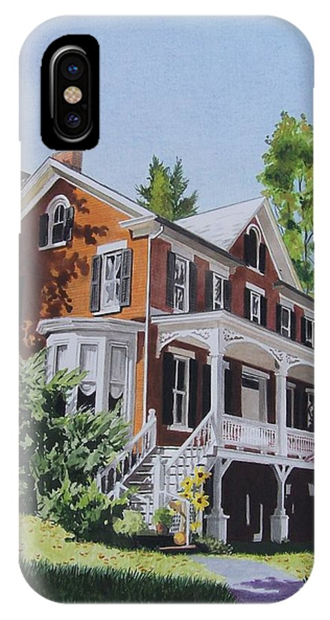 Outdoors IPhone X Case featuring the mixed media Residence In Sussex County by Constance Drescher