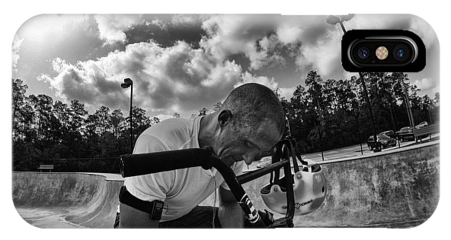 Bmx IPhone X Case featuring the photograph Rest Awhile by Mick Logan
