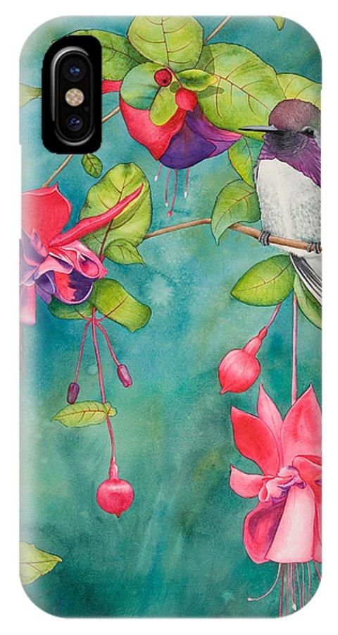 Mishel Vanderten IPhone X Case featuring the painting Resting Place by Mishel Vanderten