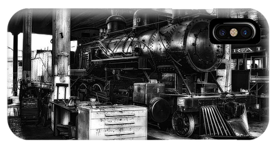 Train IPhone X Case featuring the photograph Restoration 2 In Monochrome Hdr by Michael White