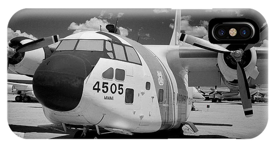 Airplane IPhone X / XS Case featuring the photograph Retired Coast Guard by Bryan Maransky