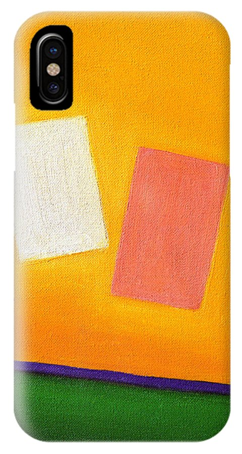 Return Of Lost Parts IPhone X Case featuring the painting Return Of Lost Parts by Judith Chantler