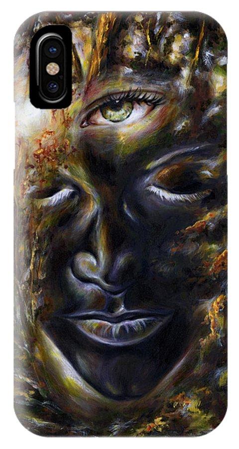 Eye IPhone X Case featuring the painting Revelation by Hiroko Sakai