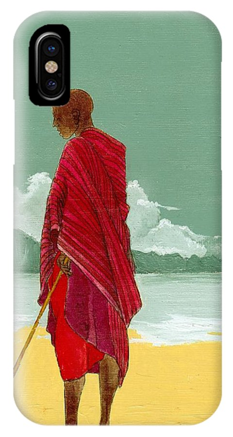 Figurative Painting IPhone X Case featuring the painting Reverence by Edith Peterson