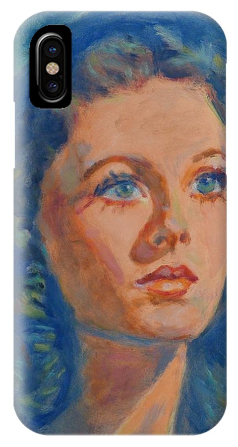 Figure IPhone X / XS Case featuring the painting Rhapsody In Blue by Horacio Prada