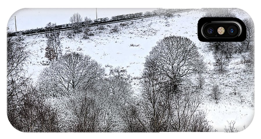 Winter IPhone X Case featuring the photograph Rhymney Valley Winter 4 by Steve Purnell