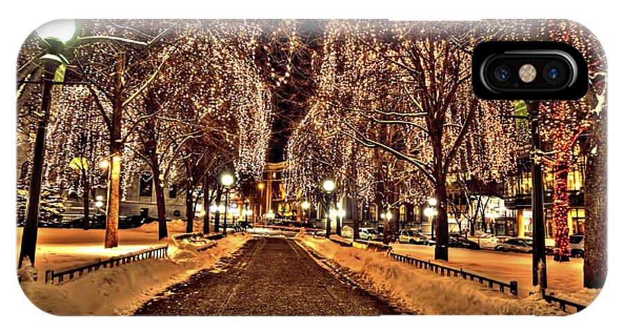 Rice Park IPhone X Case featuring the photograph Rice Park Saint Paul by Amanda Stadther