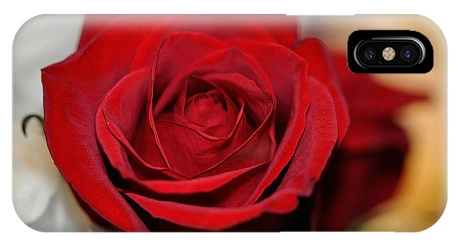 Red IPhone X Case featuring the photograph Rich Redness by Teri Schuster