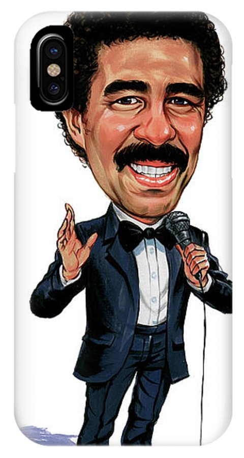 Richard Pryor IPhone X Case featuring the painting Richard Pryor by Art