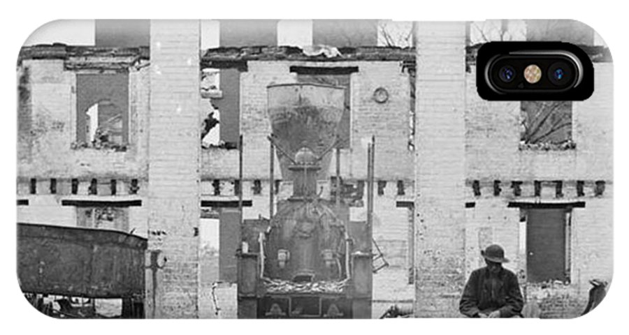 Richmond And Petersburg Depot Ruins IPhone X Case featuring the photograph Richmond And Petersburg Depot Ruins 1865 by David Call
