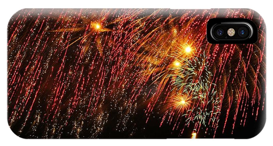 Fireworks IPhone X Case featuring the photograph Richmond Fireworks by Gordon Cain