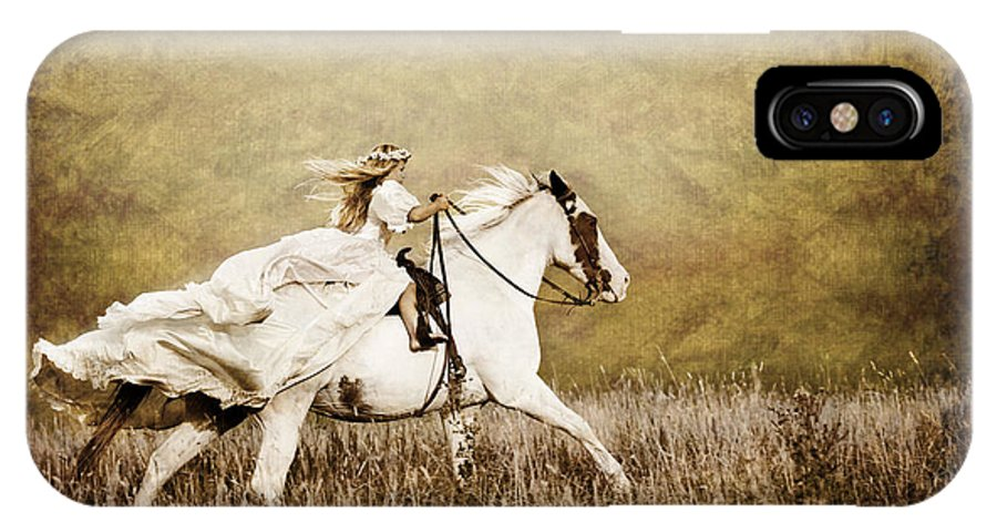Horse IPhone X Case featuring the photograph Ride Like The Wind by Cindy Singleton