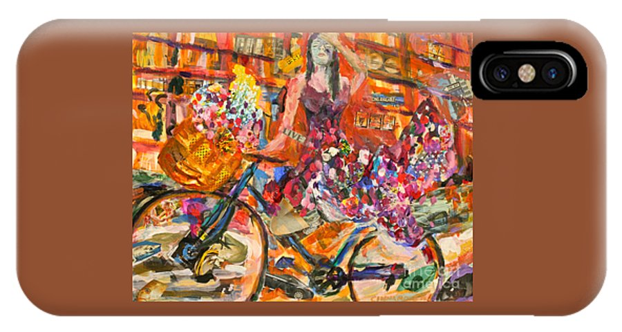 Bicycle IPhone X Case featuring the mixed media Riding Through Life by Michael Cinnamond