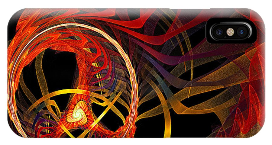 Andee Design Abstract IPhone X Case featuring the digital art Ring Of Fire by Andee Design
