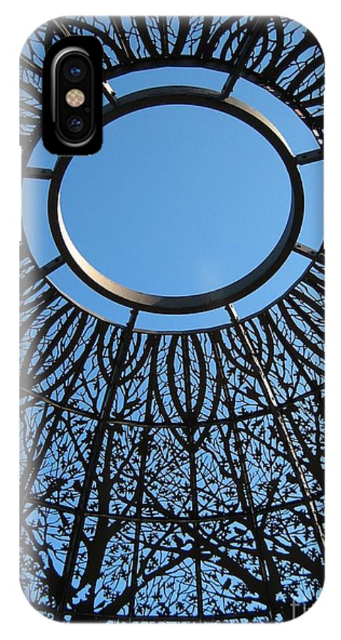 Ring Of Sky IPhone X Case featuring the photograph Ring Of Sky by Keith Lundquist