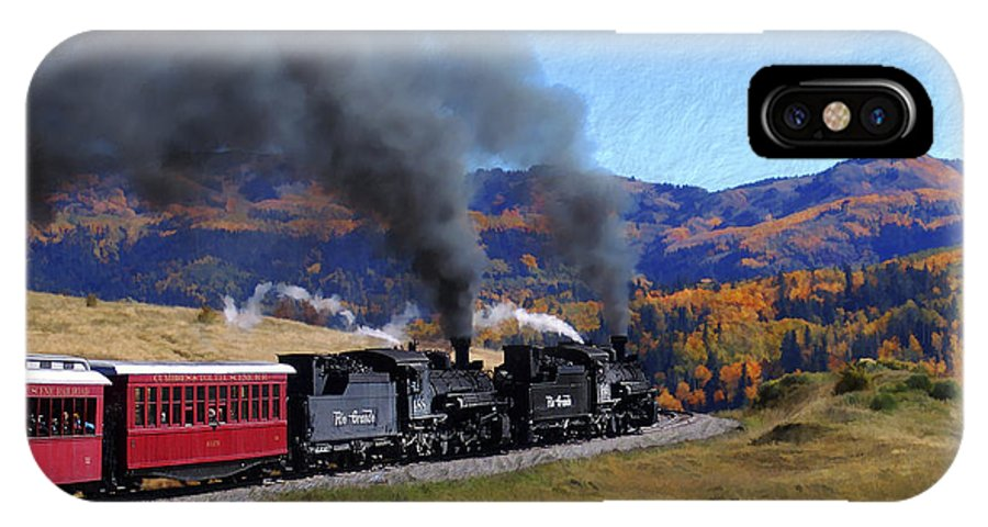 Railroad IPhone X Case featuring the photograph Rio Grande 488 And 489 by Kurt Van Wagner
