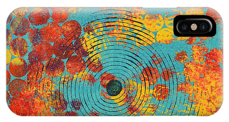 Moon Stumpp IPhone X Case featuring the painting Ripples by Moon Stumpp
