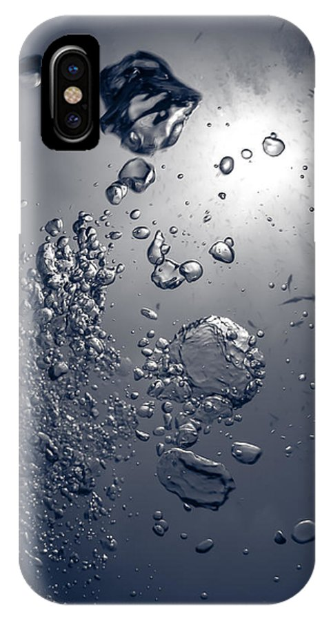 Underwater IPhone X Case featuring the photograph Rising by Sami A