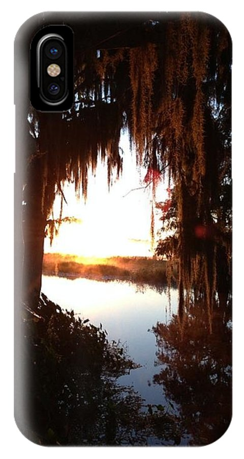 IPhone X Case featuring the photograph Rising Sun by Eric Hurwitz