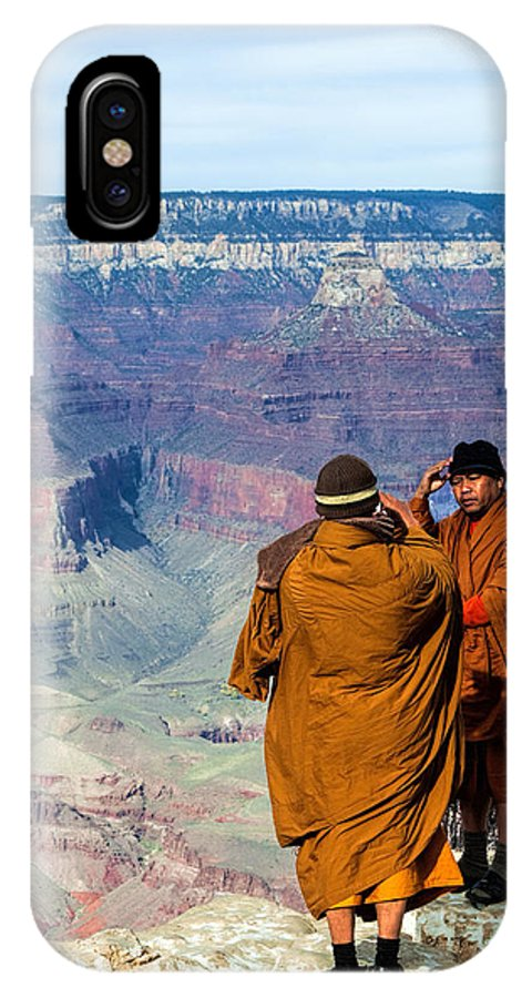 Landscape IPhone X Case featuring the photograph Risk-taking At The Grand Canyon by Photos By Pharos