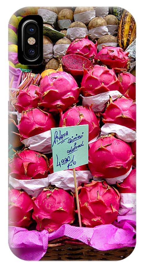 Ritaya IPhone X / XS Case featuring the photograph Ritaya Fruit - Mercade Municipal by Julie Niemela