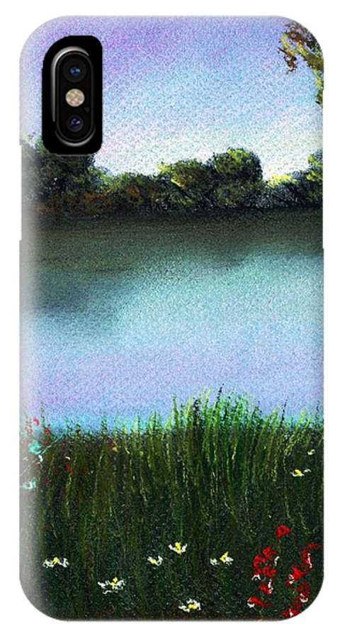 Calm IPhone X Case featuring the painting River Bank by Anastasiya Malakhova