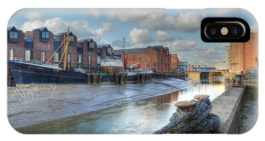 The Arctic Corsair IPhone X Case featuring the photograph River Hull by Sarah Couzens