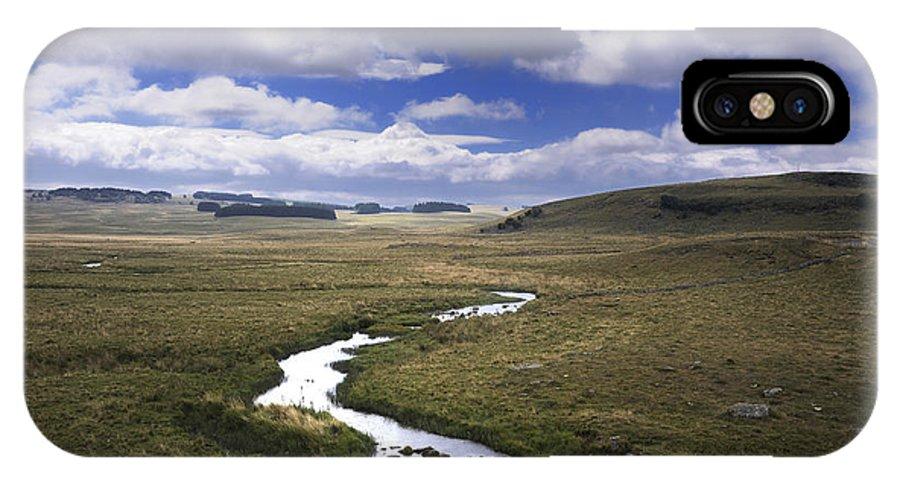 Outdoors IPhone X Case featuring the photograph River In A Landscape by Bernard Jaubert