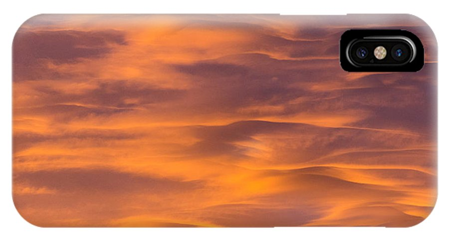 Clouds IPhone X Case featuring the photograph River Of Clouds by John Carroll