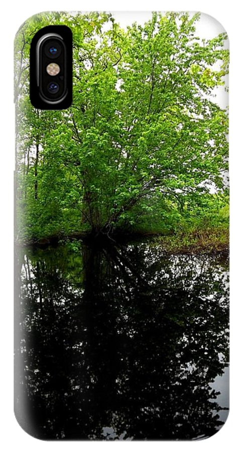 River IPhone X Case featuring the photograph River Reflections by Dancingfire Brenda Morrell