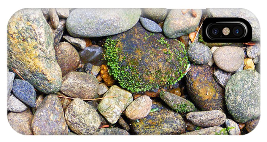 Duane Mccullough IPhone X Case featuring the photograph River Rocks 2 by Duane McCullough