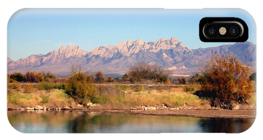 River IPhone X Case featuring the photograph River View Mesilla by Kurt Van Wagner