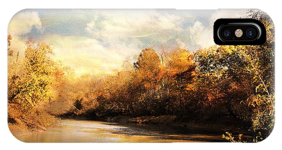 Autumn IPhone X Case featuring the photograph Riverbend by Jai Johnson