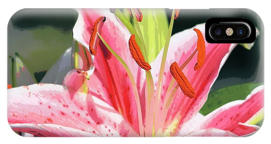 Lily IPhone X Case featuring the photograph Rk Pink Tiger Lily 2 by Sheri McLeroy
