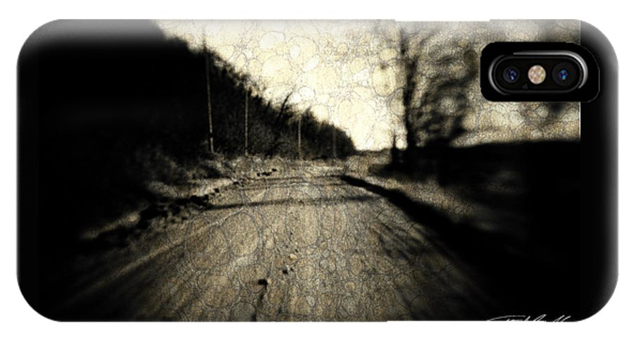 B&w IPhone X Case featuring the photograph Road Of The Past by Timothy Bischoff