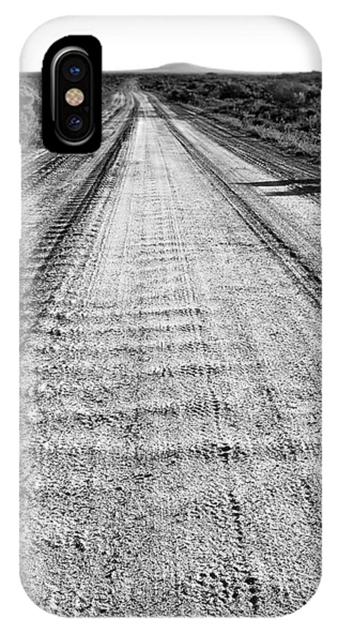 Digital Black And White Photo IPhone X Case featuring the digital art Road To Everywhere Bw by Tim Richards