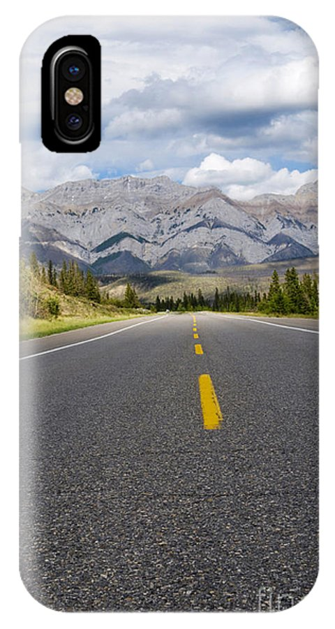Adventure IPhone X Case featuring the photograph Road To The Mountains by Gord Horne