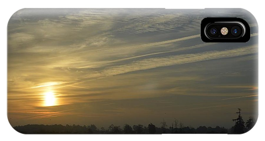 Sunrise IPhone X Case featuring the photograph Roadside by Eileen Corbel