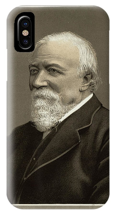 Robert IPhone X Case featuring the drawing Robert Browning Writer    Date by Mary Evans Picture Library