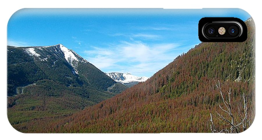 Lake IPhone X Case featuring the photograph Rock Creek Drainage II by Mark Eisenbeil