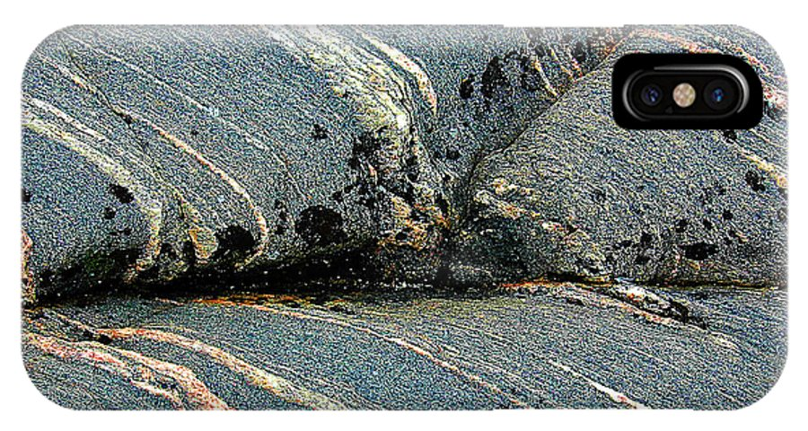Canada IPhone X Case featuring the photograph Rock Formation 1b by Patrick Boening