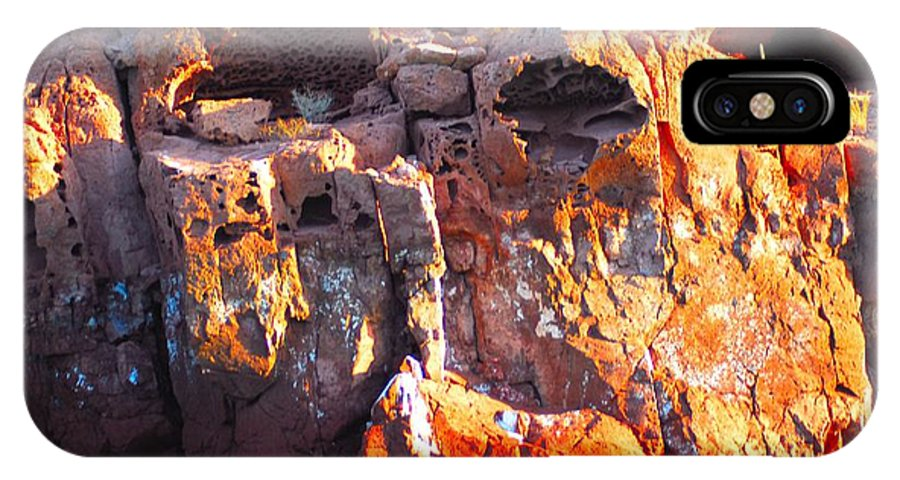 Rock Structure IPhone X / XS Case featuring the photograph rock structure at Sea of Cortez by Gerald Blaine